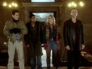 The Doctor, Rose, Mickey and Captain Jack