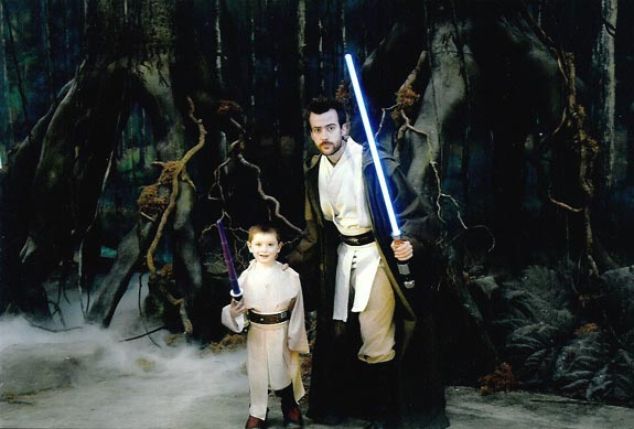 [Tom and a Jedi friend on Dagobah]