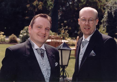 [The Groom, Clive and John, the Best Man]